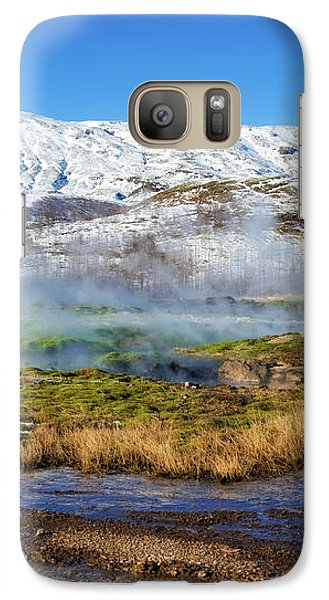 Galaxy Case featuring the photograph Iceland Landscape Geothermal Area Haukadalur by Matthias Hauser