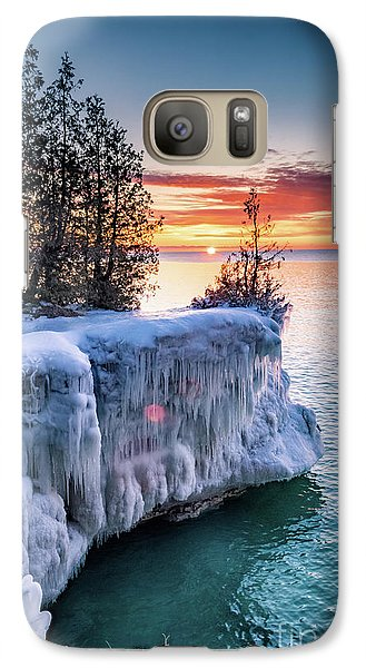 Galaxy Case featuring the photograph Icicle Cliffs by Mark David Zahn