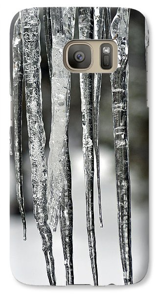 Galaxy Case featuring the photograph Icicles by Juls Adams