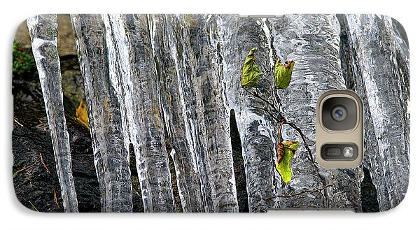Galaxy Case featuring the photograph Icicles by Sharon Talson