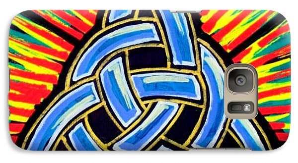 Galaxy Case featuring the painting Icon Celtic Trinity by Jim Harris