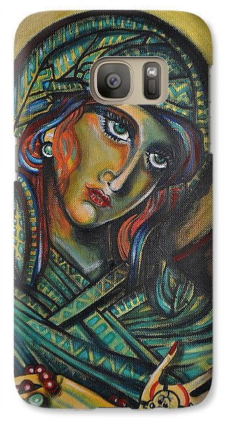 Galaxy Case featuring the painting Icona by Sandro Ramani