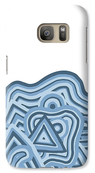 Galaxy Case featuring the drawing Icy Fun by Jill Lenzmeier