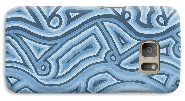 Galaxy Case featuring the drawing Icy Layers by Jill Lenzmeier