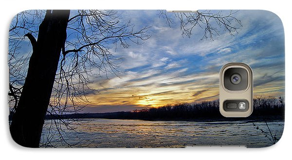 Galaxy Case featuring the photograph Icy River by Cricket Hackmann