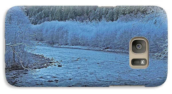 Galaxy Case featuring the photograph Icy River by Jack Moskovita