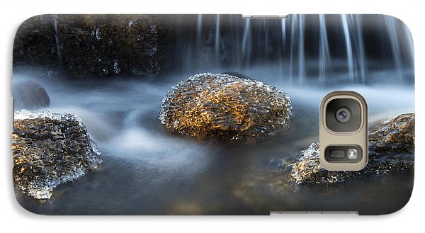 Galaxy Case featuring the photograph Icy Rocks On The Coxing Kill #1 by Jeff Severson
