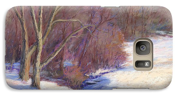 Galaxy Case featuring the painting Icy Stream by Vikki Bouffard
