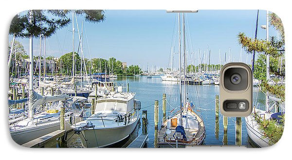 Galaxy Case featuring the photograph Idle Boats by Charles Kraus