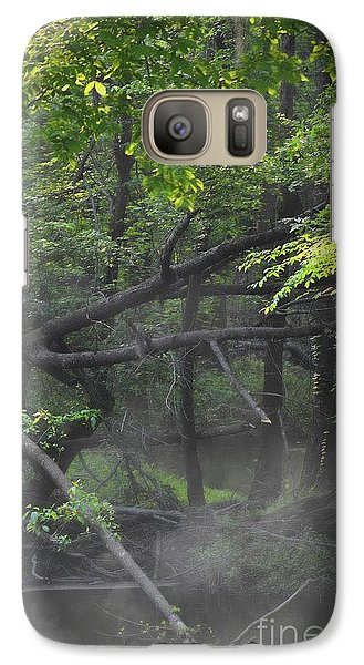 Galaxy Case featuring the photograph If A Tree Falls In The Woods by Skip Willits