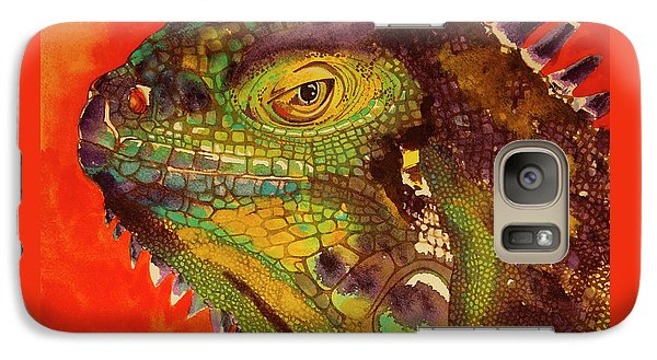 Galaxy Case featuring the painting Iggy by Cynthia Powell
