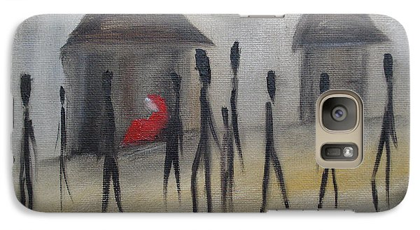 Galaxy Case featuring the painting Ignoring The Homeless by Judith Rhue