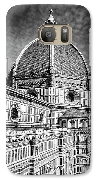 Galaxy Case featuring the photograph Il Duomo Florence Italy Bw by Joan Carroll