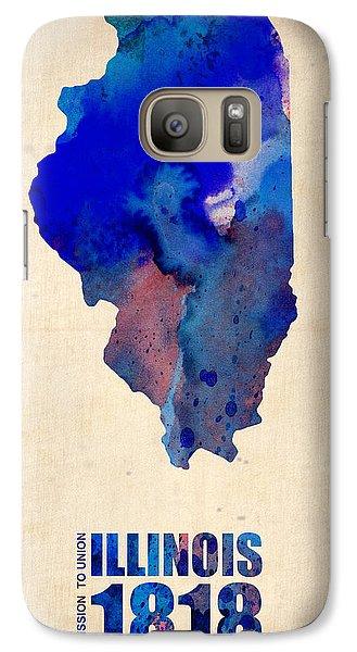 Illinois Watercolor Map Galaxy Case by Naxart Studio