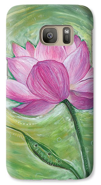 Galaxy Case featuring the painting Illuminate by Tanielle Childers