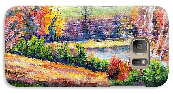 Galaxy Case featuring the painting Illuminating Colors Of Fall by Lee Nixon