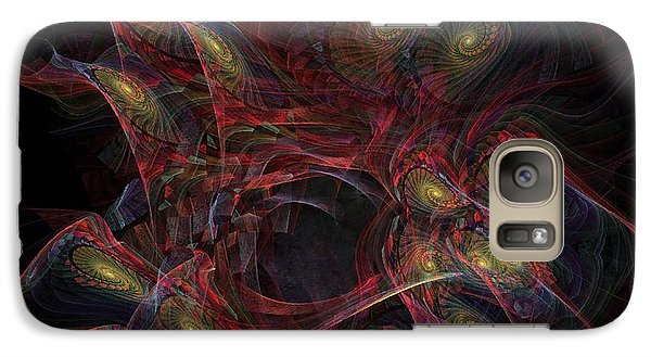 Galaxy Case featuring the digital art Illusion And Chance - Fractal Art by NirvanaBlues