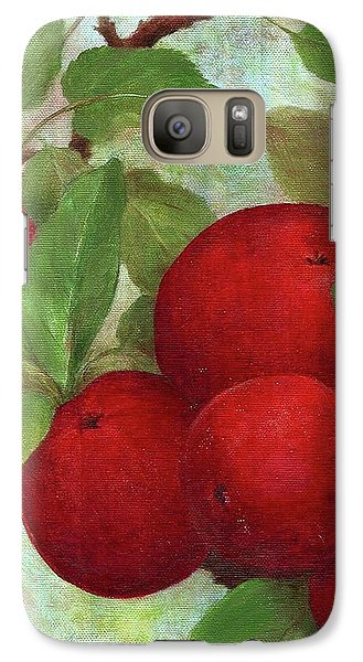 Galaxy Case featuring the painting Illustrated Apples by Judith Cheng