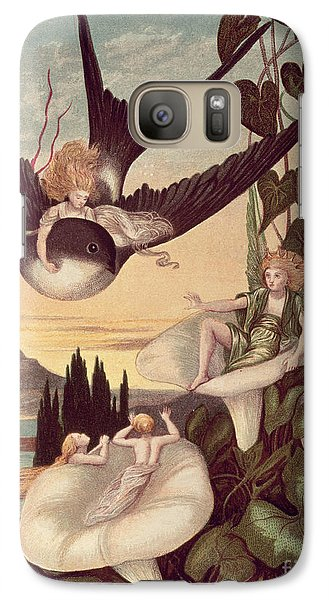 Swallow Galaxy S7 Case - Illustration To 'thumbkinetta' by Eleanor Vere Boyle and Hans Christian Andersen