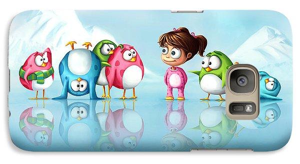 Im A Penguin Too Galaxy S7 Case by Tooshtoosh