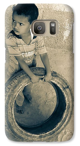 Galaxy Case featuring the photograph I'm Holding On For The Right Buyer  by Jez C Self