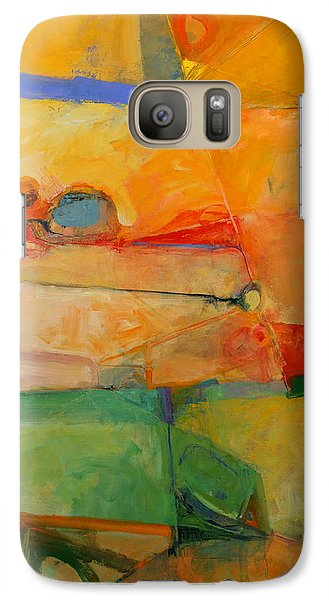 Galaxy Case featuring the painting I'm In Corn  by Cliff Spohn