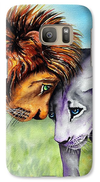 Galaxy Case featuring the painting I'm In Love With You by Maria Barry