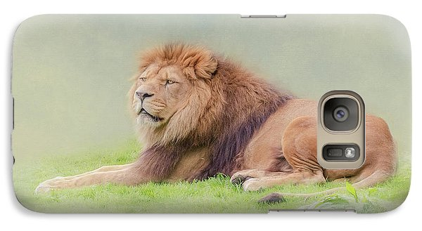 Galaxy Case featuring the photograph I'm The King by Roy McPeak