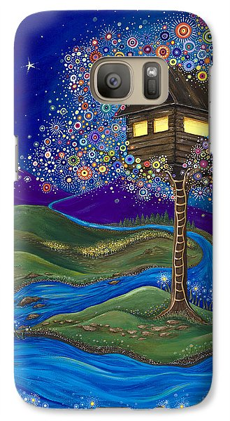 Galaxy Case featuring the painting Imagine by Tanielle Childers