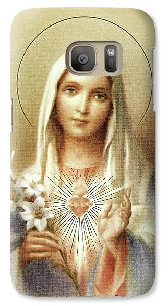 Galaxy Case featuring the mixed media Immaculate Heart Of Mary by Movie Poster Prints