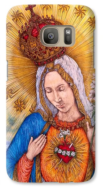 Immaculate Heart Of Virgin Mary Galaxy Case by Kent Chua