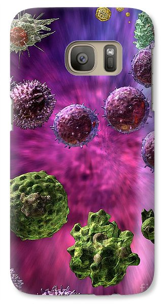 Galaxy Case featuring the digital art Immune Response Cytotoxic 4 by Russell Kightley