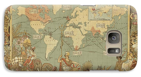 Galaxy Case featuring the digital art Imperial Map by Digital Art Cafe