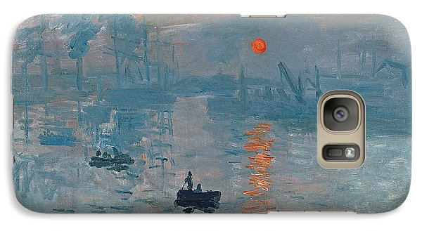 Boat Galaxy S7 Case - Impression Sunrise by Claude Monet