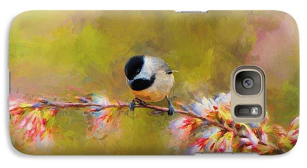 Impressionist Chickadee Galaxy Case by Jai Johnson