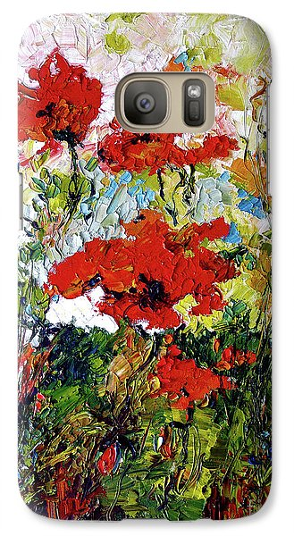 Galaxy Case featuring the painting Impressionist Red Poppies Provencale by Ginette Callaway