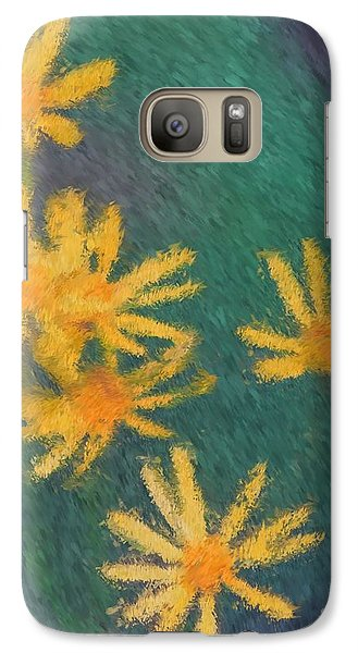 Galaxy Case featuring the painting Impressionist Yellow Wildflowers by Smilin Eyes  Treasures