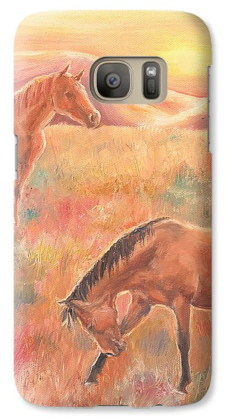 Galaxy Case featuring the painting Impressions At Sunset by Elizabeth Lock