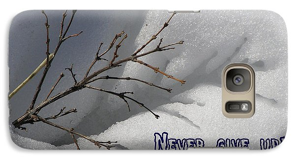 Galaxy Case featuring the photograph Impressions Never Give Up by DeeLon Merritt