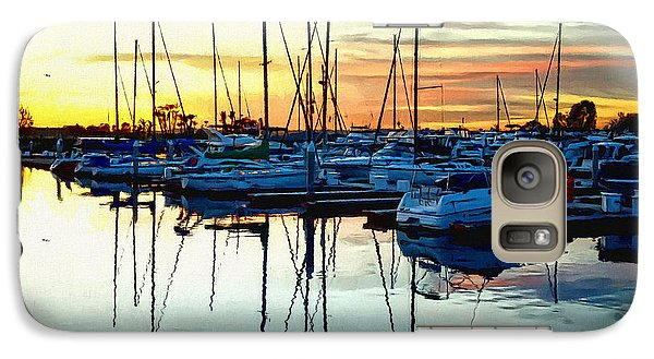 Galaxy Case featuring the photograph Impressions Of A San Diego Marina by Glenn McCarthy Art and Photography