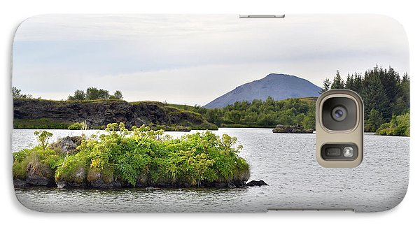 Galaxy Case featuring the photograph In An Iceland Lake by Joe Bonita
