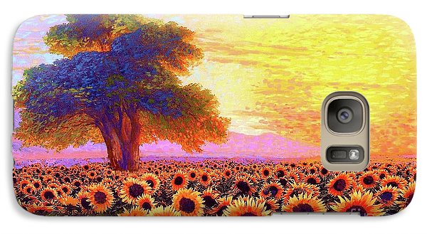 Sunflower Galaxy S7 Case - In Awe Of Sunflowers, Sunset Fields by Jane Small