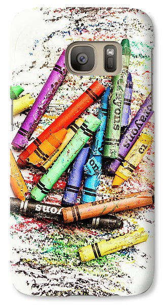 In Colours Of Broken Crayons Galaxy S7 Case
