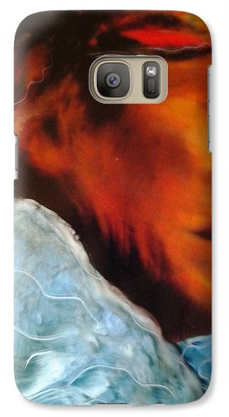 Galaxy Case featuring the painting In Cool Clear Waters by FeatherStone Studio Julie A Miller