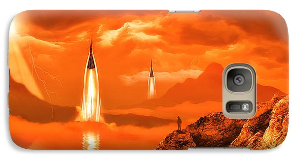 Galaxy Case featuring the photograph In Defense Of The Orange Planet by Anthony Citro