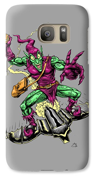 Galaxy Case featuring the drawing In Green Pursuit by John Ashton Golden