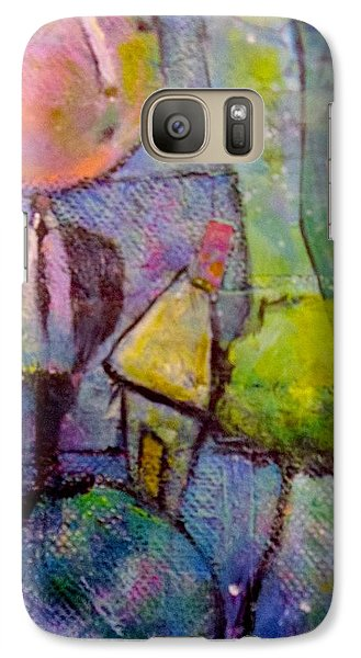 Galaxy Case featuring the painting In His World by Eleatta Diver