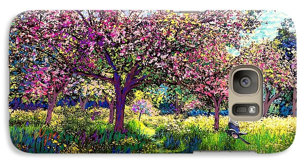 In Love With Spring, Blossom Trees Galaxy Case by Jane Small