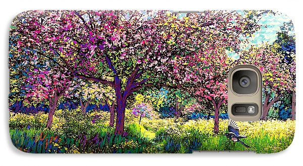 Daisy Galaxy S7 Case - In Love With Spring, Blossom Trees by Jane Small