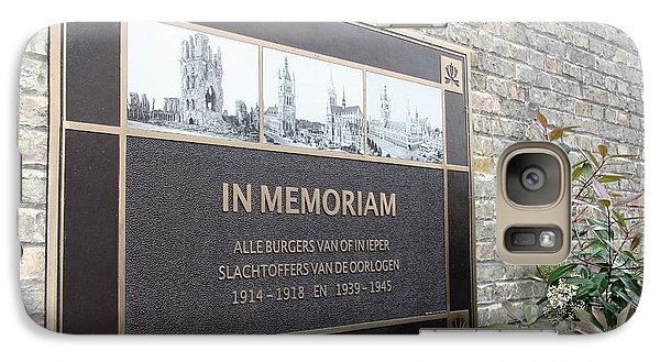 Galaxy Case featuring the photograph In Memoriam - Ypres by Travel Pics